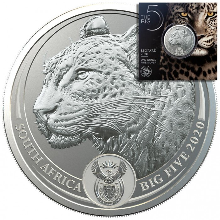 Big Five Leopard 2020 1oz - miniaturka