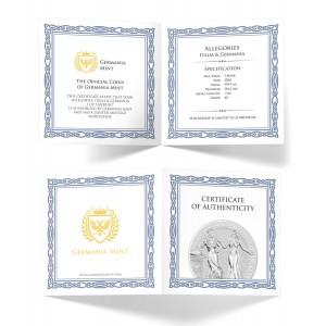 Italia & Germania 1oz - certyfikat