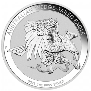 Australian Wedge-Tailed Eagle 2021, 1oz - rewers