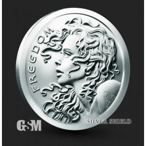 Silver Shield - Freedom Girl, 2021, 1oz - rewers