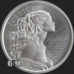 Silver Shield - Justice, 2021, 1oz - rewers