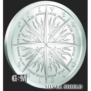 Silver Shield - Pieces of Eight, 1oz - rewers