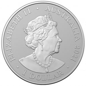 Kangaroo Outback Majesty 2021 1 oz - rewers