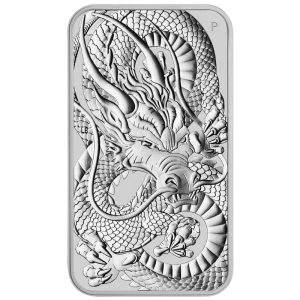 Sztabko moneta Rectangular Dragon 2021, 1oz - rewers