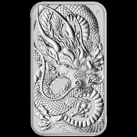 Sztabko moneta Rectangular Dragon 2021, 1oz - rewers