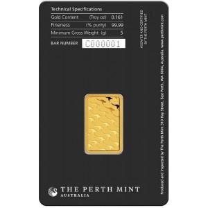 Złota sztabka Inwestycyjna Perth Mint 5g