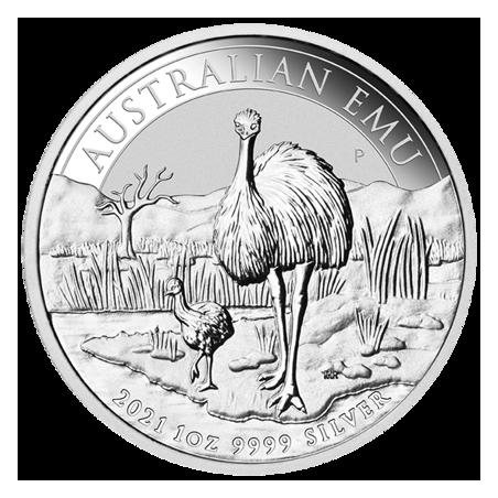 Australian Emu 2021 - 1oz, rewers