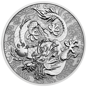 Silver Dragon 2021, 1 uncja - rewers