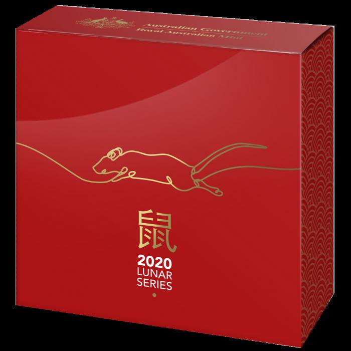 Lunar Rat 2021, 1oz (proof) - box, front