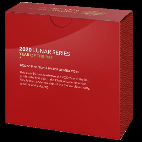 Lunar Rat 2021, 1oz (proof) - box, back
