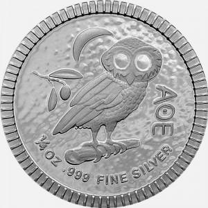 Srebrna Moneta Ateńska Sowa...
