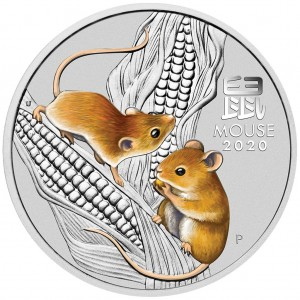 Lunar Year of the Mouse 202o kolor, 1/2oz - rewers