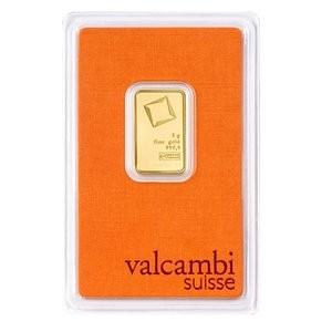 Złota sztabka Inwestycyjna Valcambi 5g - certipack