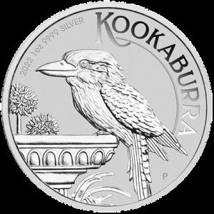 Australian Kookaburra 2022, 1 uncja - rewers
