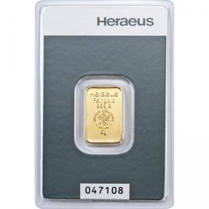Złota sztabka Inwestycyjna Heraeus 5g