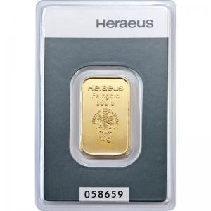 Złota sztabka Inwestycyjna Heraeus 10g