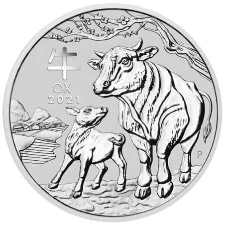 Lunar Year of the Ox 2021, 1oz - rewers
